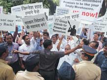 NSEL Investors protest