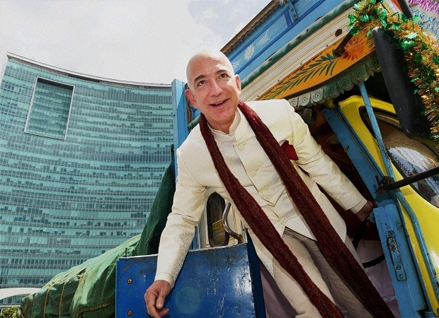 Jeff Bezos, founder and CEO of Amazon.com, Inc on an India visit, his first after announcing $2 bn  investment in the country