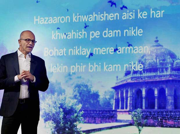 Nadella comes calling, Digital  India to get a boost : Report - Business Standard