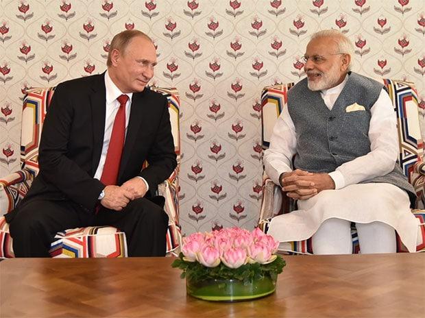 Narendra Modi, Vladimir Putin, BRICS Summit, Goa