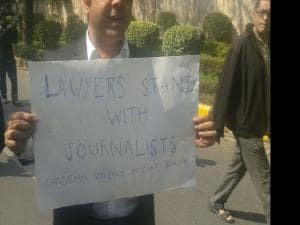 Journalists hold protest march