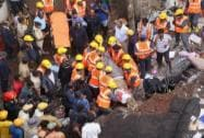 Fire brigade and NDRF personnel rescue