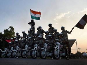 Indian Army performs at a function
