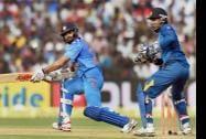 Indian batsman Shikhar Dhawan plays a shot