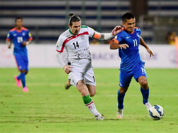 Sunil Chettri, FIFA World Cup, India vs Iran, 2018 World Cup qualifier team, Iran won the match by 3-0, Iran won, Jalal Hosseini, Kanteerava Stadium, Bengaluru