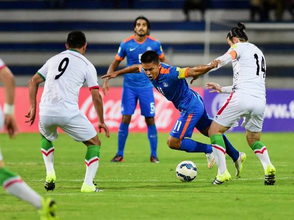 Sunil Chettri, FIFA World Cup, India vs Iran, 2018 World Cup qualifier team, Iran won the match by 3-0, Iran won