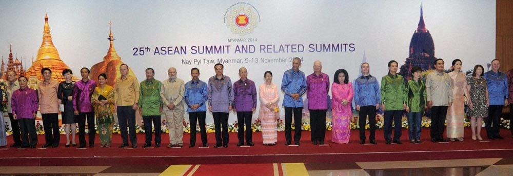 Prime Minister, Narendra Modi, US President, Barack Obama, Myanmar President, Thein Sein, head of states, pose, East Asia Summit, family photo, Myanmar International Convention Center