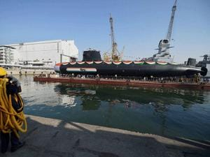 'Khanderi' launched at Mazagon Dock Shipbuilders Limited (MDL) in Mumbai