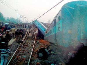 Ajmer-Sealdah express train derailed early morning  near Rura railway station in Kanpur dehat district