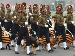 Indian Army's dog squad during the Army Day parade