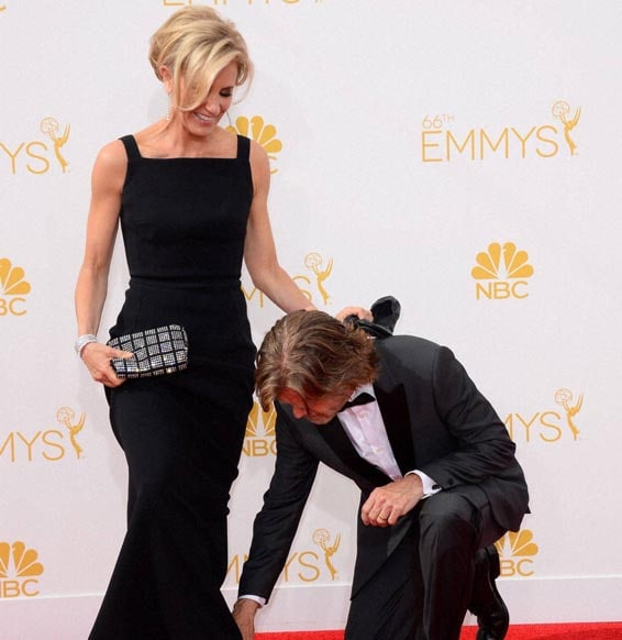 Felicity Huffman,  William H. Macy, arrive, 66th Annual Primetime Emmy Awards, Nokia Theatre, L.A. Live