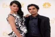 Neha Kapur and Kunal Nayyar arrive at the 66th Primetime Emmy Awards