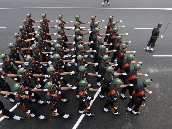Soldiers, 67th Republic Day, Celebrations of India, National flags, Tricolour