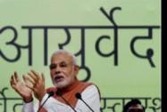 Prime Minister Narendra Modi addresses during the valedictory function of the 6th World Ayurveda Congress