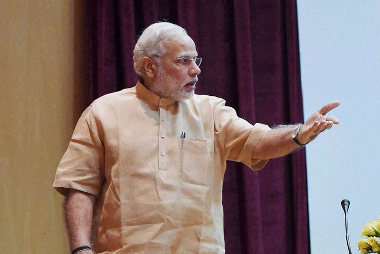 Prime Minister, Narendra Modi, gestures, arrives, attend, 86th ICAR Foundation Day, function