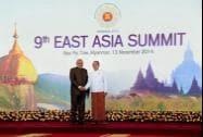 Prime Minister Narendra Modi with Myanmar's President Thein Sein