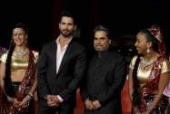 Actor Shahid Kapur and director Vishal Bhardwaj pose for photographers on the red carpet on the occasion of the screening of the movie Haider