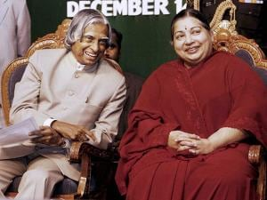 Jayalalithaa with former President Late APJ Abdul Kalam
