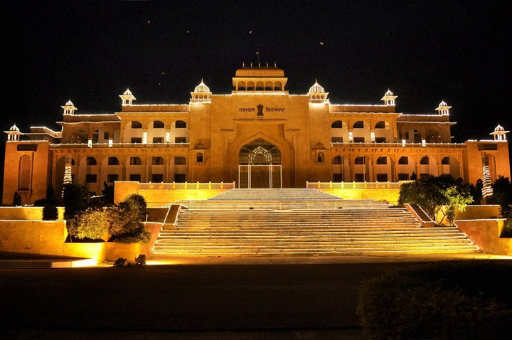 Illuminated, Rajasthan Assembly, eve, Independence Day