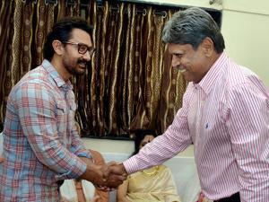Kapil Dev with Bollywood actor Amir Khan