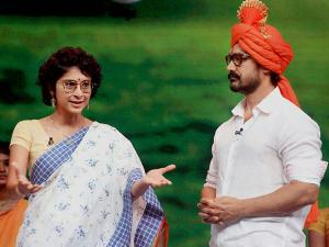 Aamir Khan with his wife and filmmaker Kiran Rao on the sets of Marathi talk show 'Chala Hawa Yeu Dya'