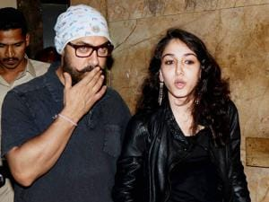 Aamir Khan along with daughter Ira Khan during the special screening of film Dangal