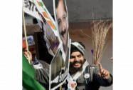 AAP leaders, workers rejoice landslide win in Delhi