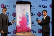 Bollywood actor Amitabh Bachchan and Soon Kwon, MD of LG Electronics launch of LG G3 Smartphone