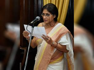 BJP leader Roopa Ganguly takes oath as Rajya Sabha member in the presence of Vice President