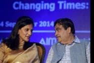 Minister of Shipping, Road Transport and Highways, Nitin Gadkari and AIMA President, Preetha Reddy
