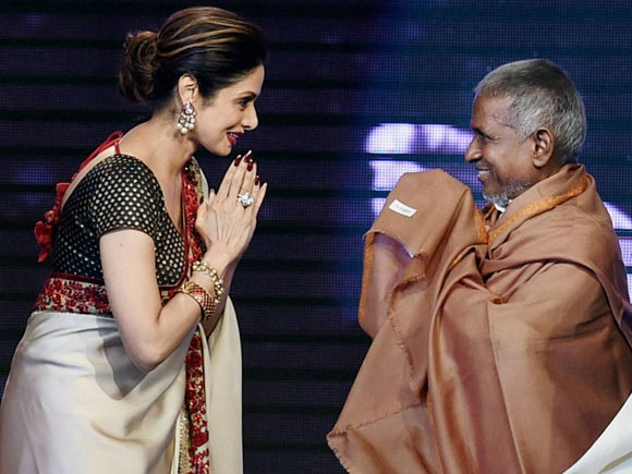 Sri Devi, music director Ilaiyaraaja, Shamitabh