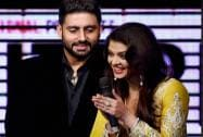 Bollywood actor Abhishek Bachchan and Aishwarya Bachchan during the music launch of 'Shamitabh'.