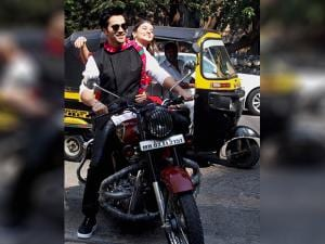 Varun Dhawan and Alia Bhatt during the trailer launch of their film  in Mumbai