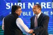Ravishankar Prasad with Reliance Group chairman Anil Ambani