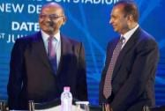 Reliance Group chairman Anil Ambani and Vedanta Group chief Anil Agarwal