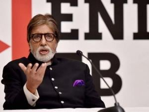 Amitabh Bachchan and US Ambassador to India Richard Verma during a press briefing  on the US government's commitment to end TB, ahead of the World TB Day in New Delhi