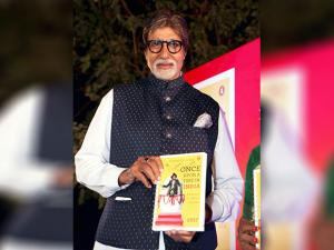 Bollywood Actor Amitabh Bachchan launches book  'Once Upon A Time in India - Century of Indian Cinema' author by Bhawana Somaaya,in Mumbai