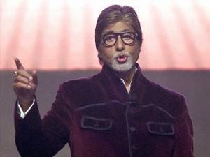 Bollywood actor Amitabh Bachchan during the launch of 'Robomate plus' mobile app in Mumbai