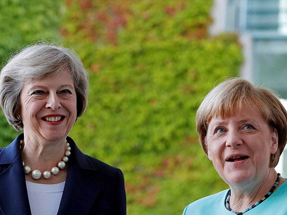 Theresa May, Angela Merkel, Brexit, article 50, German Chancellor, British Prime Minister