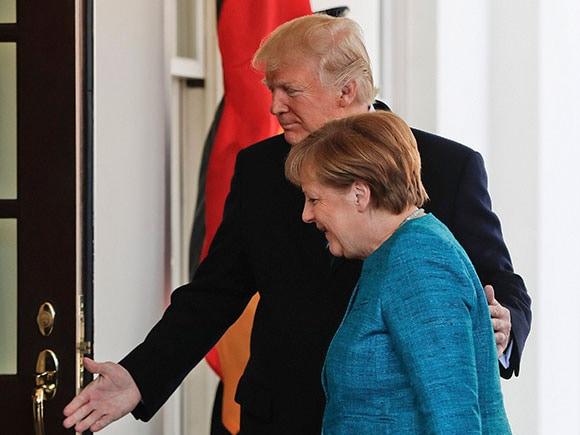 Donald Trump, Angela Merkel, President Donald Trump, German Chancellor Angela Merkel