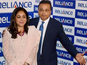 Chairman Reliance infrastructure Anil Ambani alongwith his wife Tina Ambani