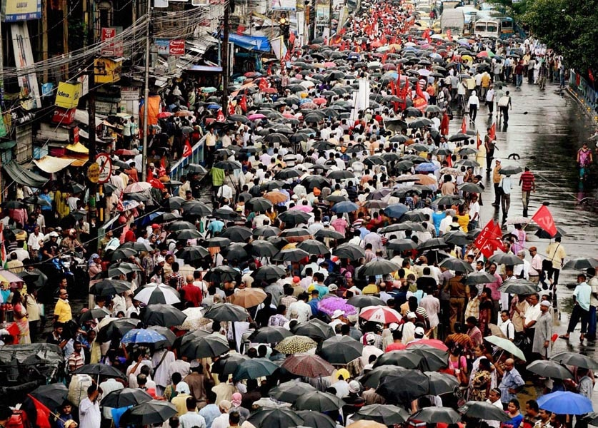 Left Front, activists, take part, rally, observe, Anti-Imperialist Day, Kolkata
