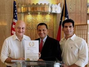Anupam Kher receives Honored Guest of Texas award