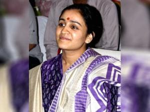 Aparna Yadav, Mulayam Singh Yadav 's younger daughter-in-law who is a candidate for UP Assembly polls from the Cantoment Area of Lucknow