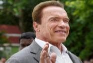 Hollywood star Arnold Schwarzenegger after meeting Tamil Nadu Chief Minister J Jayalalithaa