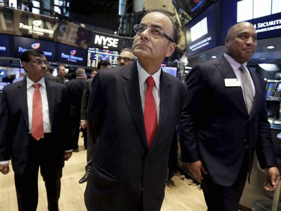 Finance Minister of India, Arun Jaitley, New York, New York Stock Exchange, India, Donald Himpele