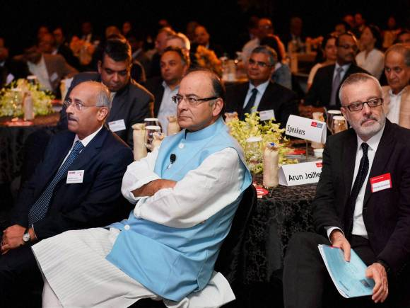 Finance Minister of India, Arun Jaitley, Goods and Services Tax (GST), Land Acquisition bill, Congress, Parliament, growth, Trade union strike, Economist India Summit 2015, India Summit 2015, UK-based Economist magazine