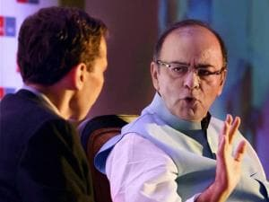 Finance Minister Arun Jaitley speaks during the  'India Summit 2015