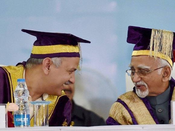Vice President of India,  Hamid Ansari, Delhi Deputy Chief Minister, Manish Sisodia, Guru Gobind Singh, Guru Gobind Singh Indraprastha University, University