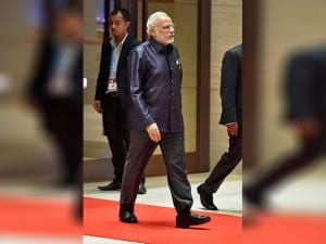 Prime Minister Narendra Modi arrives for the Gala Dinner